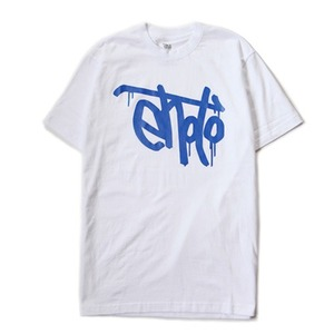 SIGNATURE TEE - White & Blue