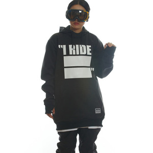DRIFT LINE(WINDPROOF) HOODIE - I RIDE (BLACK)
