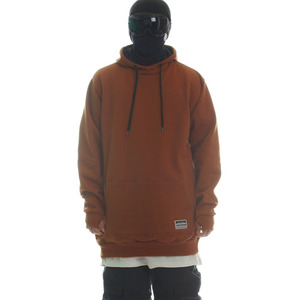 SIGNATURE LINE HOODIE - PLAIN COPPER BROWN